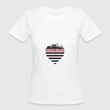 Hamburg skyline - Women's Organic T-shirt
