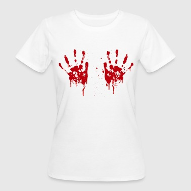 Bloody hands boobs - Women's Organic T-shirt
