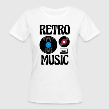 Retro Music  - Frauen Bio-T-Shirt