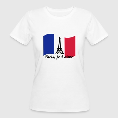 Paris, France - je t'aime - Frauen Bio-T-Shirt