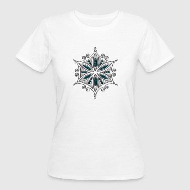 Flower of Aphrodite, silver, Symbol of  love, beauty and transformation, Power Symbol, Talisman - T-shirt bio Femme