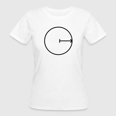 Math symbol - radius of the circle - Women's Organic T-shirt