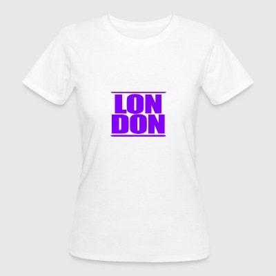 LON DON Logo Purple - Ekologisk T-shirt dam