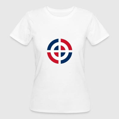 Cocarde de la République Dominicaine svg - T-shirt Bio Femme
