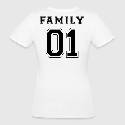 FAMILY 01 - Black Edition - Ekologisk T-shirt dam