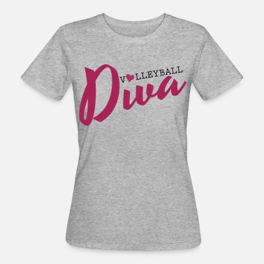 Volleyball Gracioso Volleyball Diva - Camiseta ecológica mujer