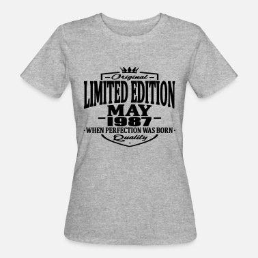 Vintage 1987 Limited edition may 1987 - Women's Organic T-Shirt