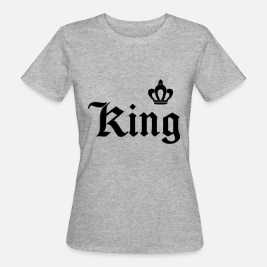 Letter Crown King lettering with crown - Women's Organic T-Shirt