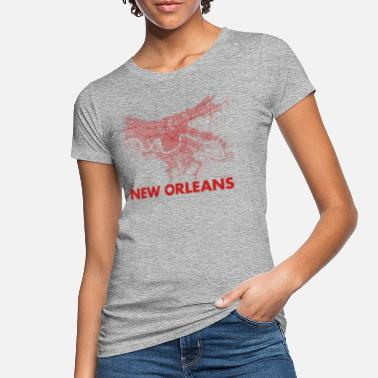 New Orleans New Orleans usa drmaps r - Vrouwen bio T-shirt