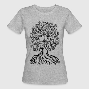 Tree fairy, save, earth, planet, forest, fantasy - Women's Organic T-Shirt