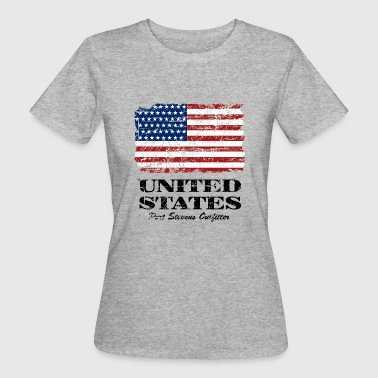 USA Flag - Vintage Look - Vrouwen Bio-T-shirt