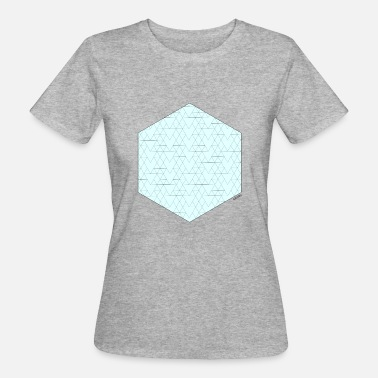 Hexagon Turquoise hexagon - Women's Organic T-Shirt