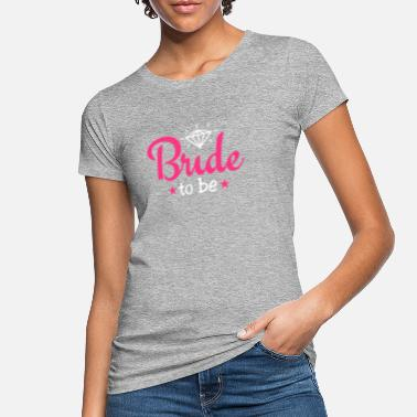 Bride bride to be with diamond 2c - Women's Organic T-Shirt