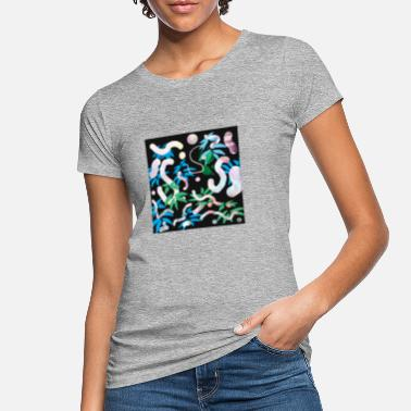 Bright Colours bright nature pattern - Women's Organic T-Shirt