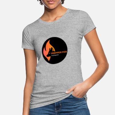 Prepper Fox logo transparent - Frauen Bio T-Shirt