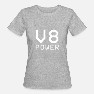 V8 Power V8 Power - White - Women's Organic T-Shirt