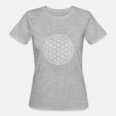 Flower of life in white - Women's Organic T-Shirt