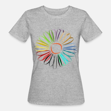 Coloring colorful flower, blossom, nature, colorful, colored, colors - Women's Organic T-Shirt
