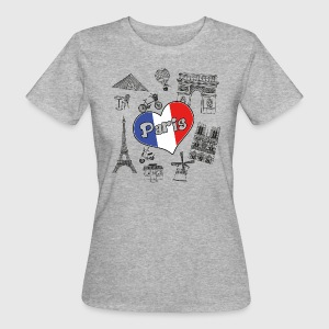 I Love Paris 2 - Vrouwen Bio-T-shirt