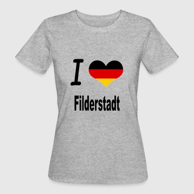 I Love Germany Home Filderstadt - Frauen Bio-T-Shirt