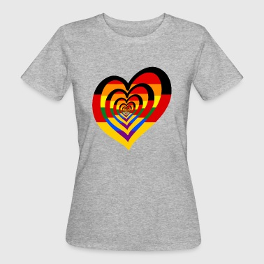 German Rainbow Heart - Frauen Bio-T-Shirt