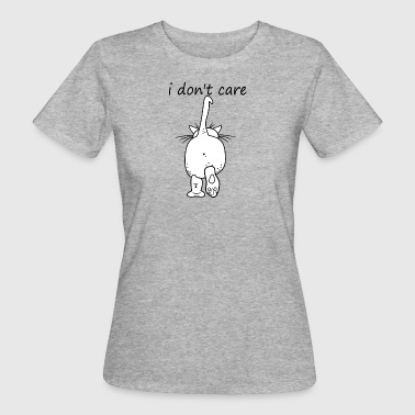 cat who cares - Vrouwen Bio-T-shirt