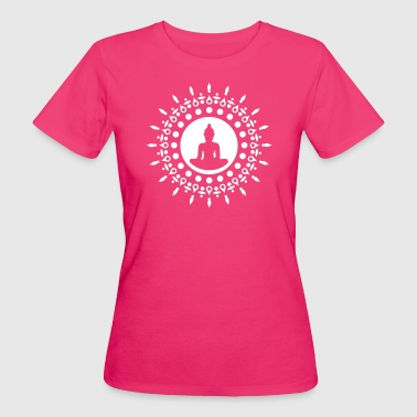 Buddha meditation, yoga, Buddhism, enlightenment - T-shirt ecologica da donna