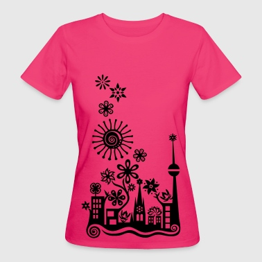 Guerilla Gardening!, c, Auf die Plätze - Saatbombe los! Let's fight the filth with forks and flowers! - Vrouwen Bio-T-shirt