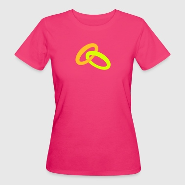 gold two colour wedding rings joined together - Women's Organic T-shirt
