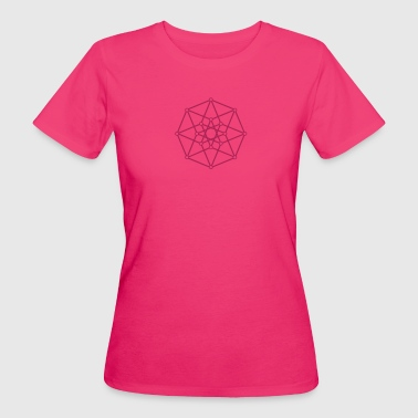 Hypercube 4D - TESSERACT - edge-first-shadow, c, Symbol - Dimensional Shift, Metatrons Cube, Ishtar Star - Women's Organic T-shirt