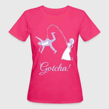 Funny Couples Gotcha! (Bride Fishing Husband / Hen Party) - Women's Organic T-Shirt