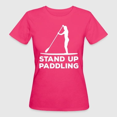 Paddle Standing paddler SUP Paddle Sports water sports summer - Women's Organic T-Shirt