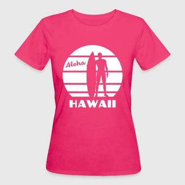 Hawaii Aloha Surf Sunset weiss - Frauen Bio-T-Shirt