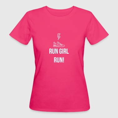 Run Girl, Run! - T-shirt ecologica da donna