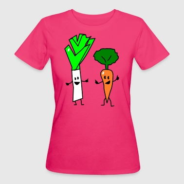 vegetable couple one - T-shirt ecologica da donna