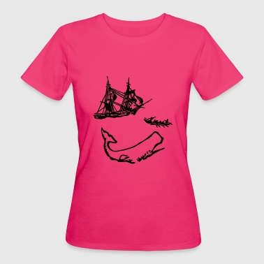 Moby Dick illustration - T-shirt bio Femme