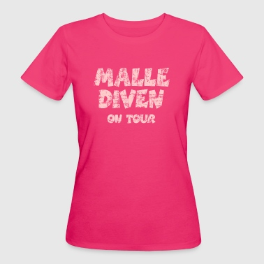 Malle Diven On Tour Vintage Pink - Frauen Bio-T-Shirt