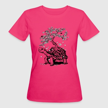 Turtle with a bonsai on the carapace - Women's Organic T-shirt