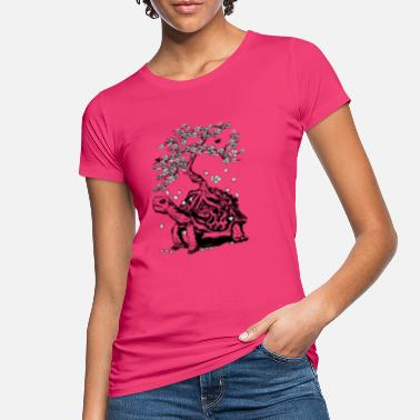 Turtles Turtle with a bonsai on the carapace - Women's Organic T-Shirt