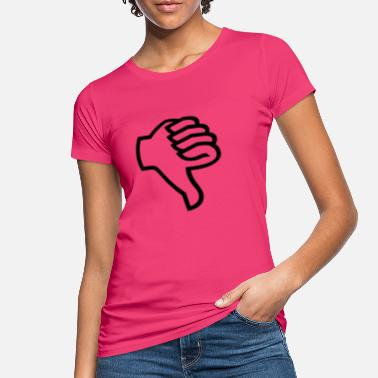 Misbilligelse Thumbs untern sort - Økologisk T-shirt dame