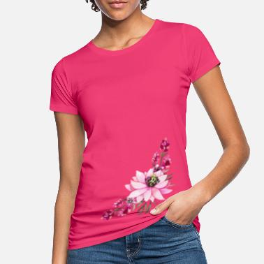 Accent Rose floral accent - Women's Organic T-Shirt