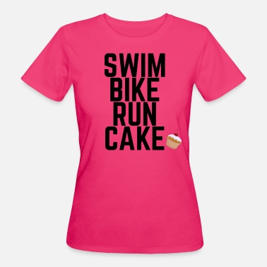 Triathlon Swim Bike Run Cake - Frauen Bio-T-Shirt