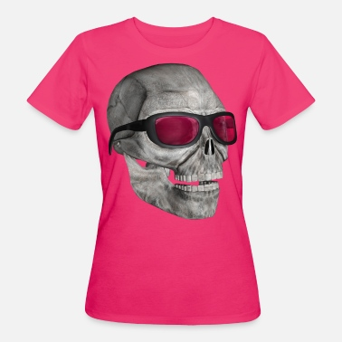 Lustiger Totenkopf skull with sunglasses 3000 - Frauen Bio-T-Shirt