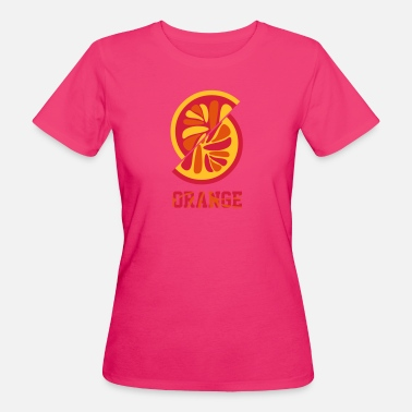 Orangen orange orange - Frauen Bio-T-Shirt