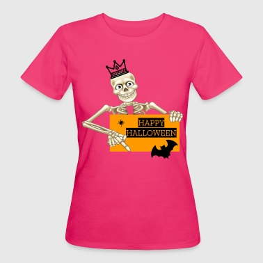 Halloween Skull Skelett - Frauen Bio-T-Shirt