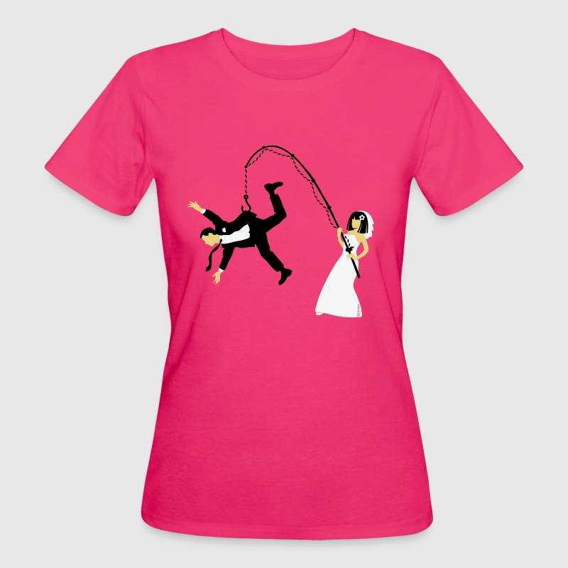 Bride Fishing A Husband (Stag Hen Party / PNG) - Women's Organic T-shirt