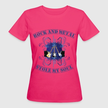 Rock and Metal stole my soul - blue - T-shirt bio Femme