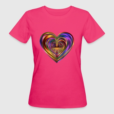 Colorfull Heart - Vrouwen Bio-T-shirt