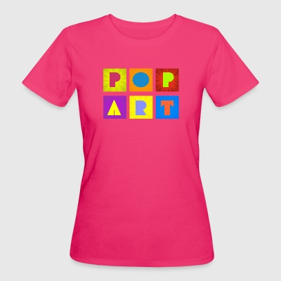pop art - T-shirt ecologica da donna