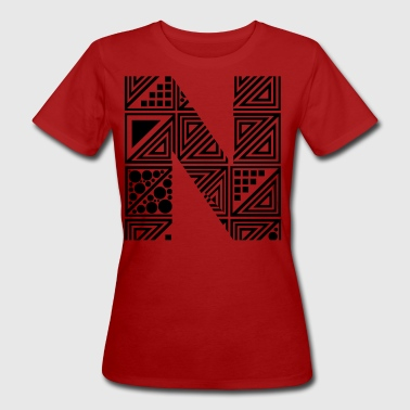 letter N - Camiseta ecológica mujer